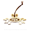 Flying Spaghetti Monster Ornament (gold finish) Bobby Henderson,fsm,flying spaghetti monster, ornament