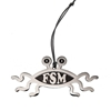 Flying Spaghetti Monster Ornament (silver finish) Bobby Henderson,fsm,flying spaghetti monster, ornament
