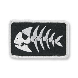 Jolly Pirate Fish Bones Iron-on Patch Bobby Henderson,fsm,flying spaghetti monster,pirate,jolly,jolly pirate